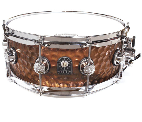 "Natal 14"" x 5.5"" Hand Hammered Old Bronze Snare Drum"