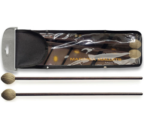 Pair of maple marimba mallets - Medium