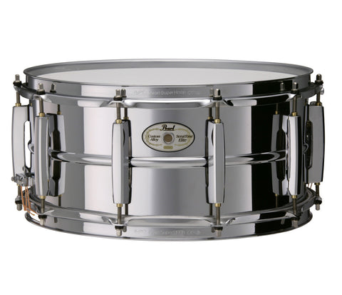 "Pearl Sensitone Series 14"" x 6.5"" Stainless Steel Snare Drum"