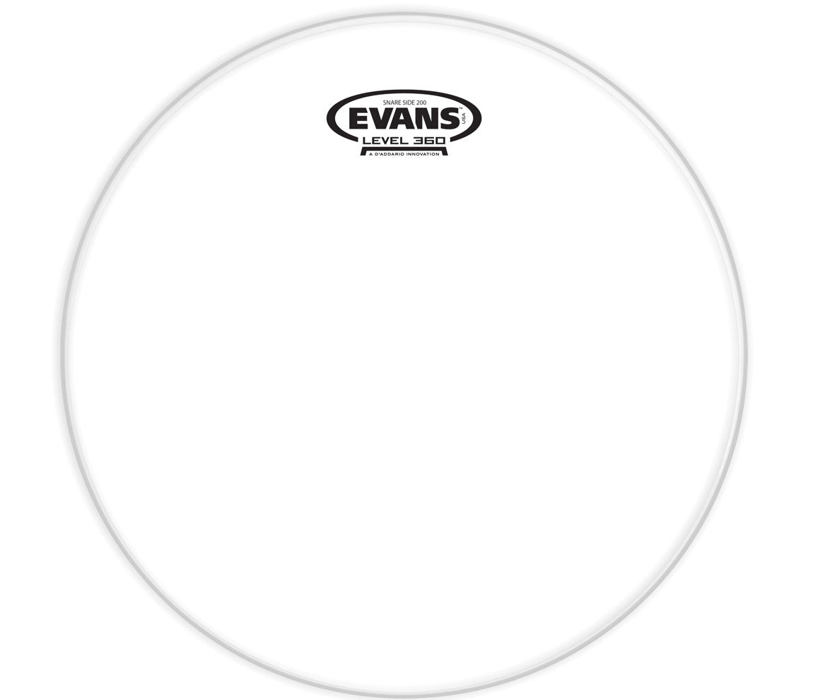 Evans Clear 200 Snare Side Drum Head, 14""