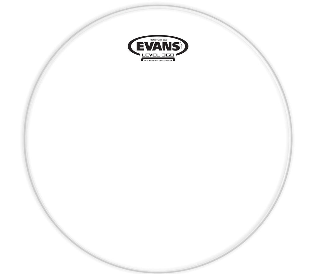 Evans Clear 200 Snare Side Drum Head, 10""