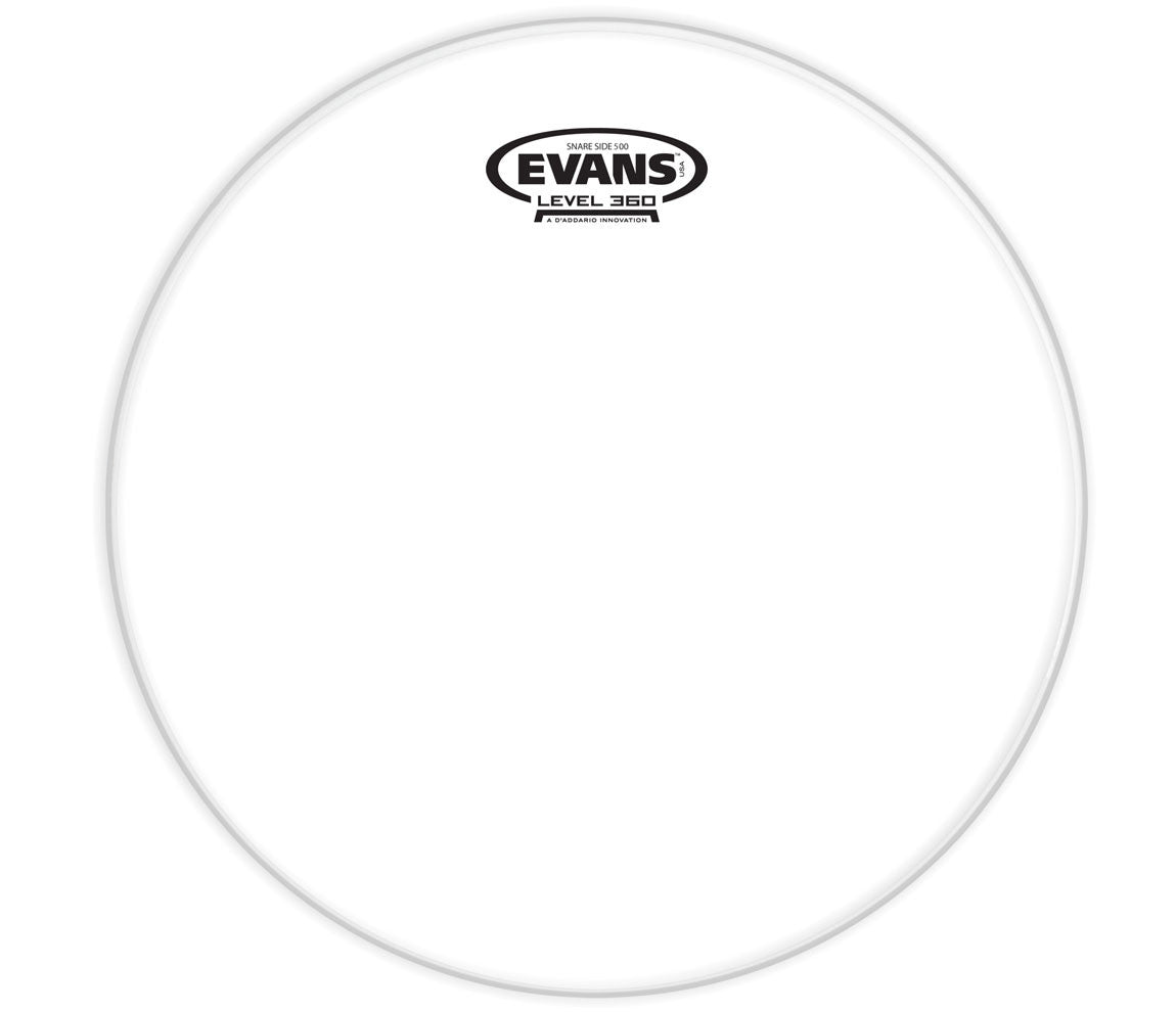 Evans Clear 500 Snare Side Drum Head, 13""