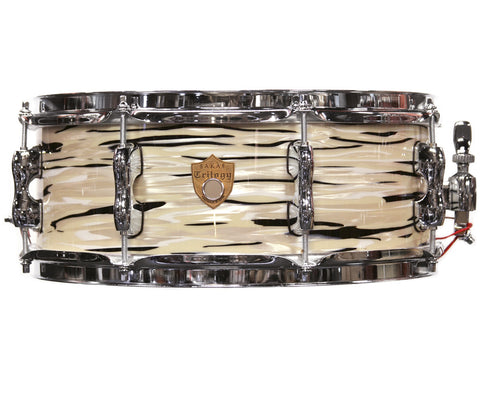 "Sakae Trilogy 14"" X 5.5"" Snare Drum In Mint Oyster Pearl"