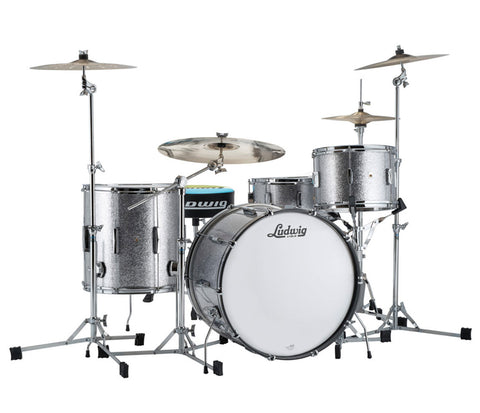 Ludwig Club Date 3-Piece Shell Pack - Downbeat in Silver Mist Sparkle