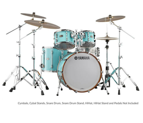 Yamaha 9000 Recording Custom 4-Piece Fusion Shell Pack in Surf Green