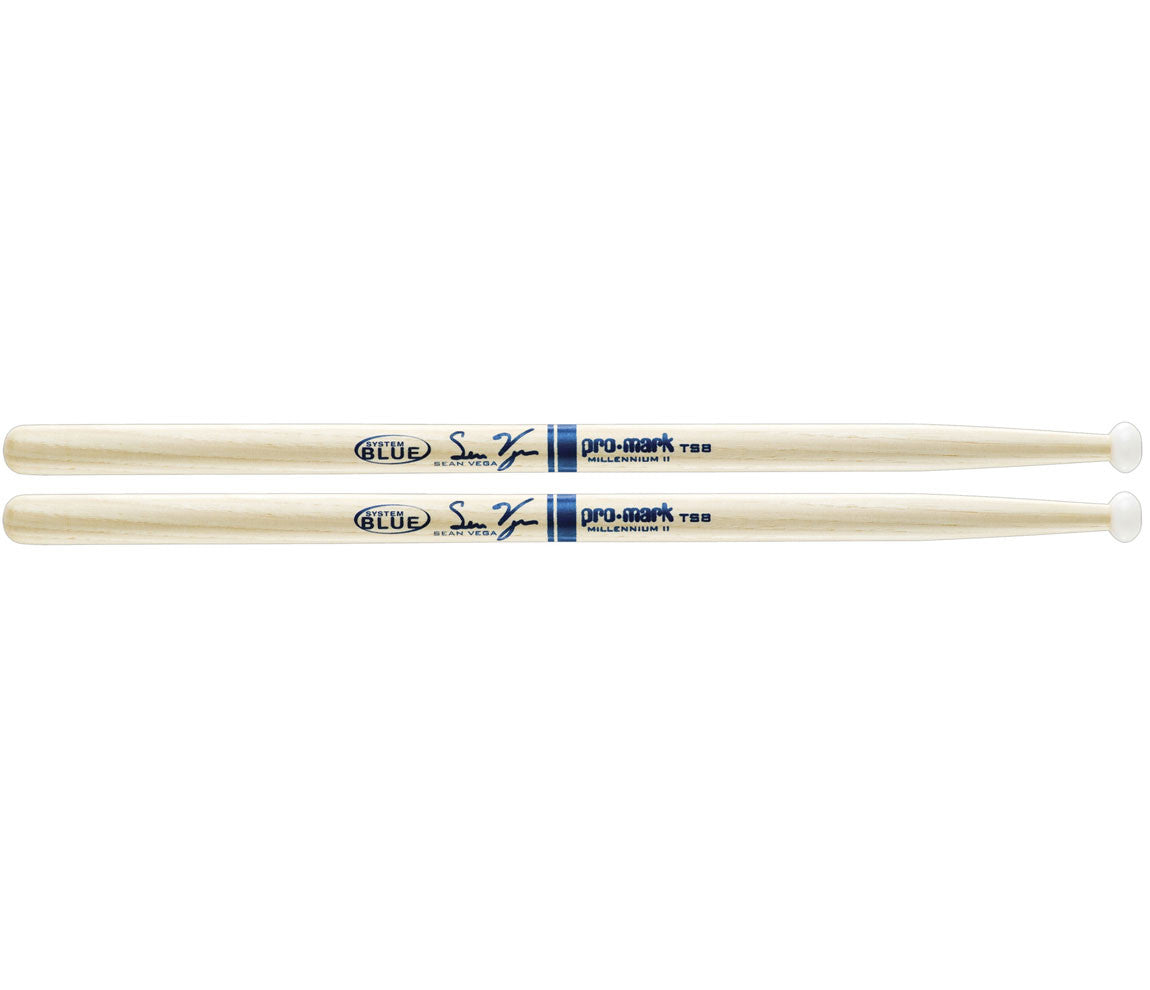 "Pro-Mark Hickory Sean Vega TS8 ""System Blue"" Tenor Mallet"