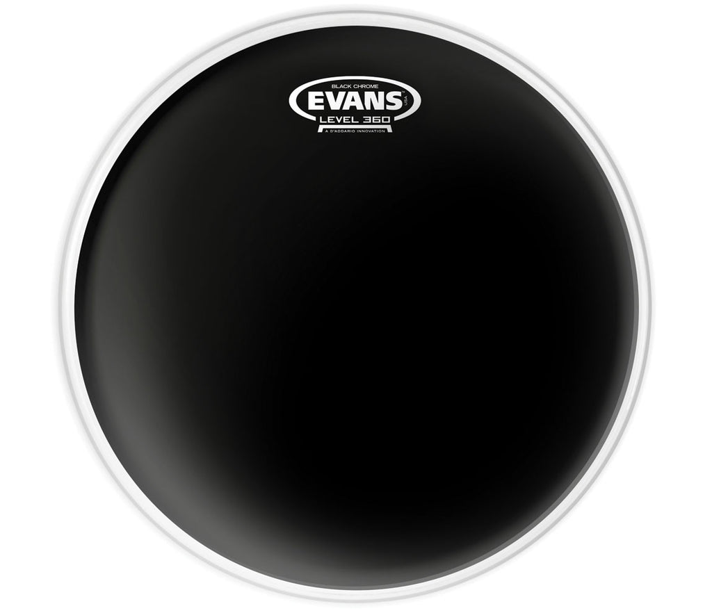 Evans Black Chrome Drum Head, 6""