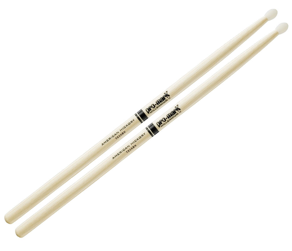 Pro-Mark Hickory 5AB Nylon Tip Drumstick