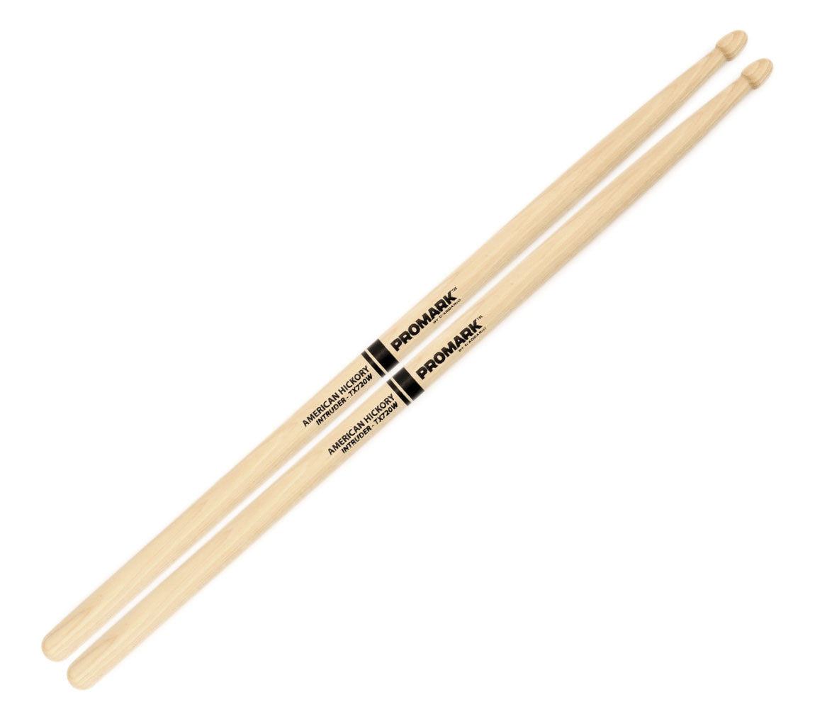 "Pro-Mark Hickory 720 ""Intruder"" Wood Tip Drumstick"