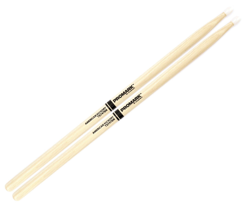 "Pro-Mark Hickory 747B ""Super Rock"" Nylon Tip Drumstick"
