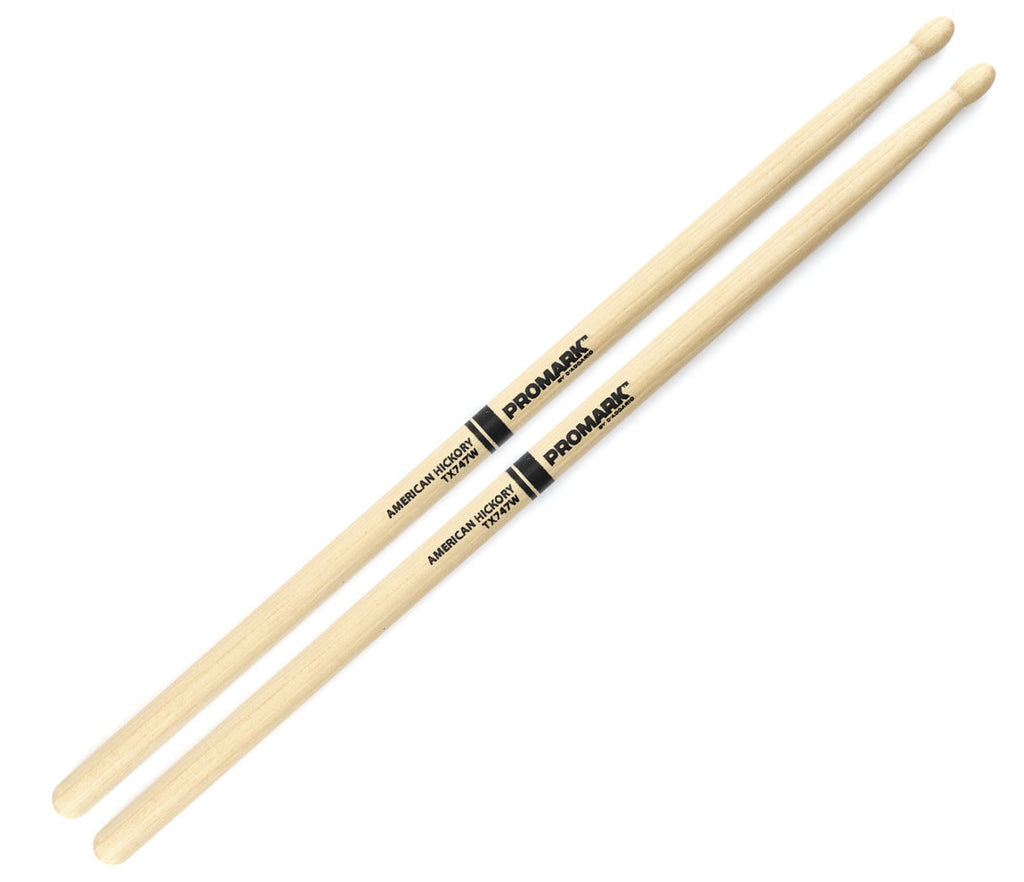 "Pro-Mark Hickory 747 ""Rock"" Wood Tip Drumstick"