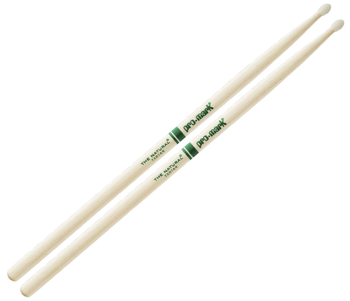 "Pro-Mark Hickory 7A ""The Natural"" Nylon Tip Drumstick"