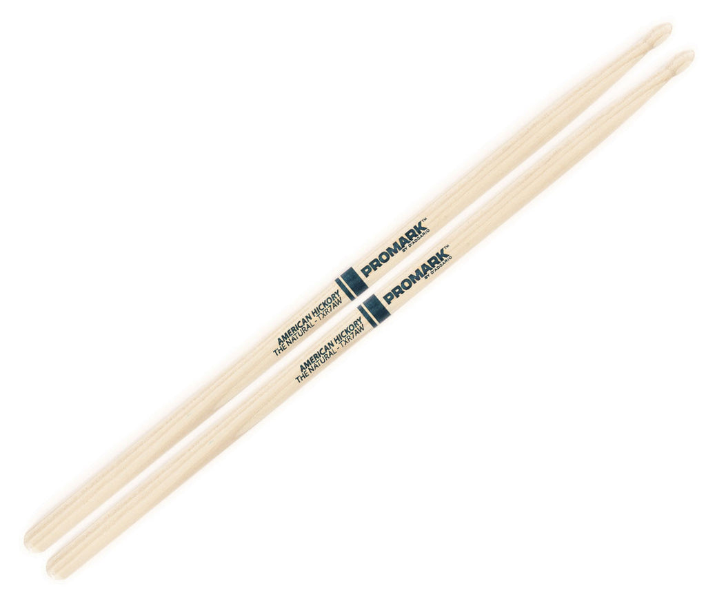 "Pro-Mark Hickory 7A ""The Natural"" Wood Tip Drumstick"
