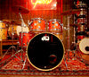 DW Collector's Series, DW 4 Piece Maple Drum Kit, Super Tangerine Glass Finish, Maple Drum Kit, 4 Piece Drum Kit, DW Drum Kit, DW Drums, Maple Shells, Timbre Matched, Pre Loved, Pre Loved Drum Kits