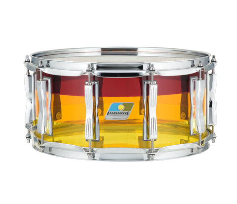 "Ludwig Vistalite 14"" x 6.5"" Snare Drum in Tequila Sunrise"