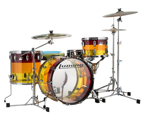 Ludwig Vistalite Super Classic Shell Pack in Tequila Sunrise