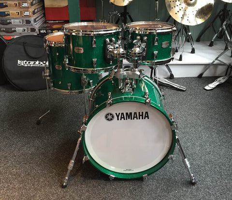 Yamaha Absolute Maple Hybrid 4-Piece Shell Pack In Jade Green Sparkle