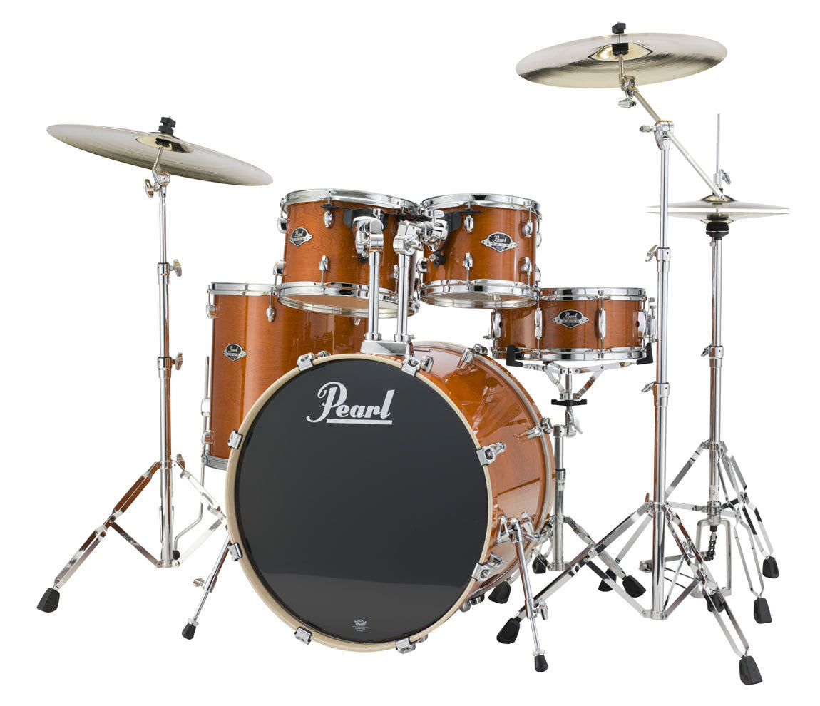 Pearl Export Lacquer EXL Drum Kit in Honey Amber