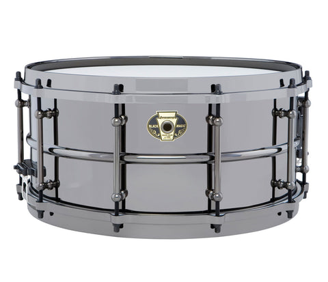 Ludwig Black Magic Snare Drum with Black Nickel Hardware