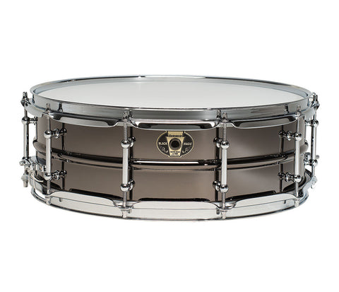Ludwig Black Magic Snare Drum with Chrome Hardware