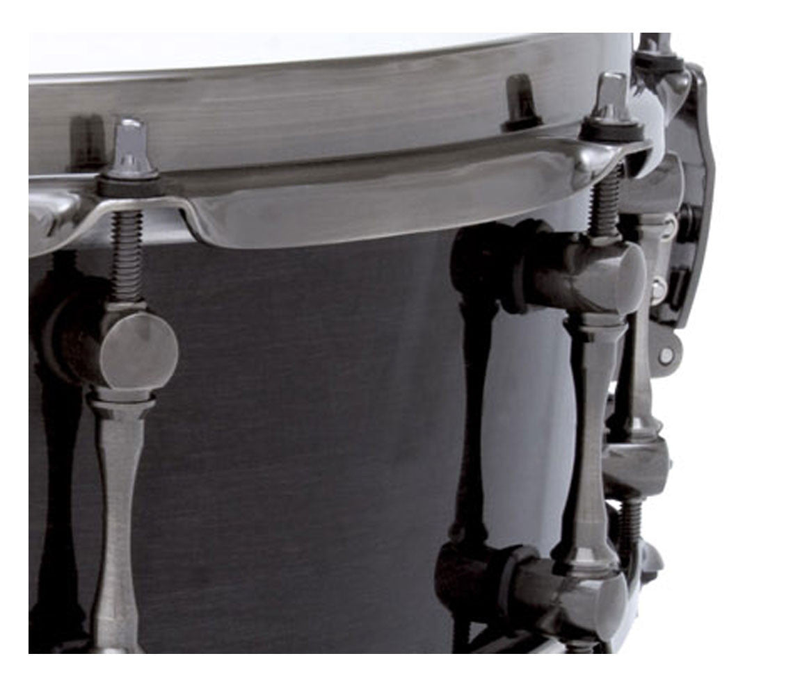 "Mapex Black Panther 'The Black Widow' 14"" x 5"" Snare Drum Close Up 2"