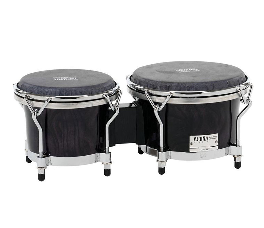 "Gon Bops Special Edition Alex Acuna All Ash Bongos 7"" & 8.5"" - Ebony Lacquer Finish"