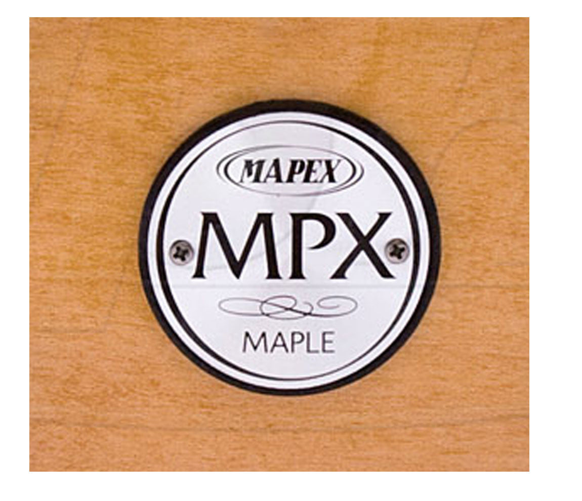 "Mapex MPX Natural Maple Finish  13"" x 6"" Snare Drum Logo"