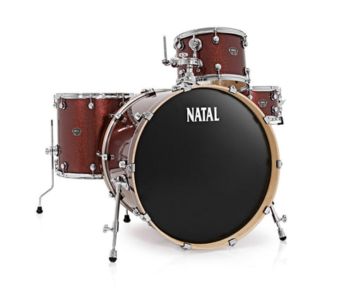 Natal Arcadia UR24 4-Piece Shell Pack in Red Sparkle