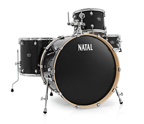 Natal Arcadia Rock 4-Piece Shell Pack in Black Sparkle