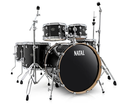 Natal Arcadia UFX Plus 6-Piece Drum Kit in Black Sparkle