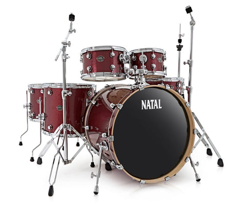 Natal Arcadia UFX Plus 6-Piece Drum Kit in Red Sparkle