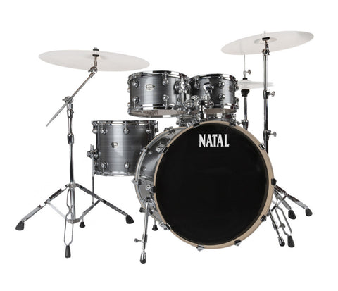 Natal Arcadia UFX Plus 5-Piece Drum Kit in Grey Strata