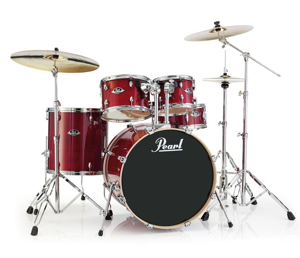 Pearl Export Lacquer EXL Drum Kit in Natural Cherry
