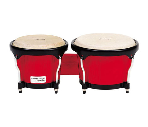 "Gon Bops Fiesta Series Bongos 7"" & 8.5"" - Red w/ Black Hardware"