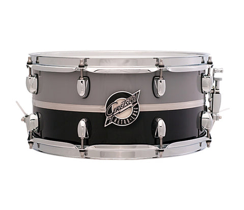 Gretsch Snare Retro-Luxe 14‰۝ x 6.5‰۝ Snare Drum Pewter/Black