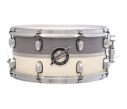 Gretsch Snare Retro-Luxe 14‰۝ x 6.5‰۝ Snare Drum Pewter/White