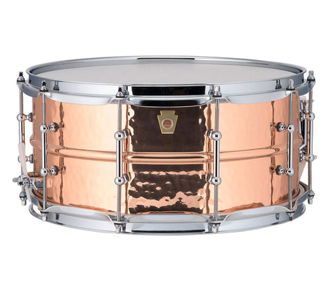 "Ludwig 14"" x 6.5"" USA Copper Phonic Snare Drum (LC662KT)"