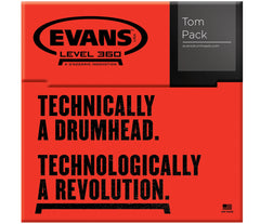 "Evans Power Center Tompack Clear, Rock (10"", 12"", 16"")"