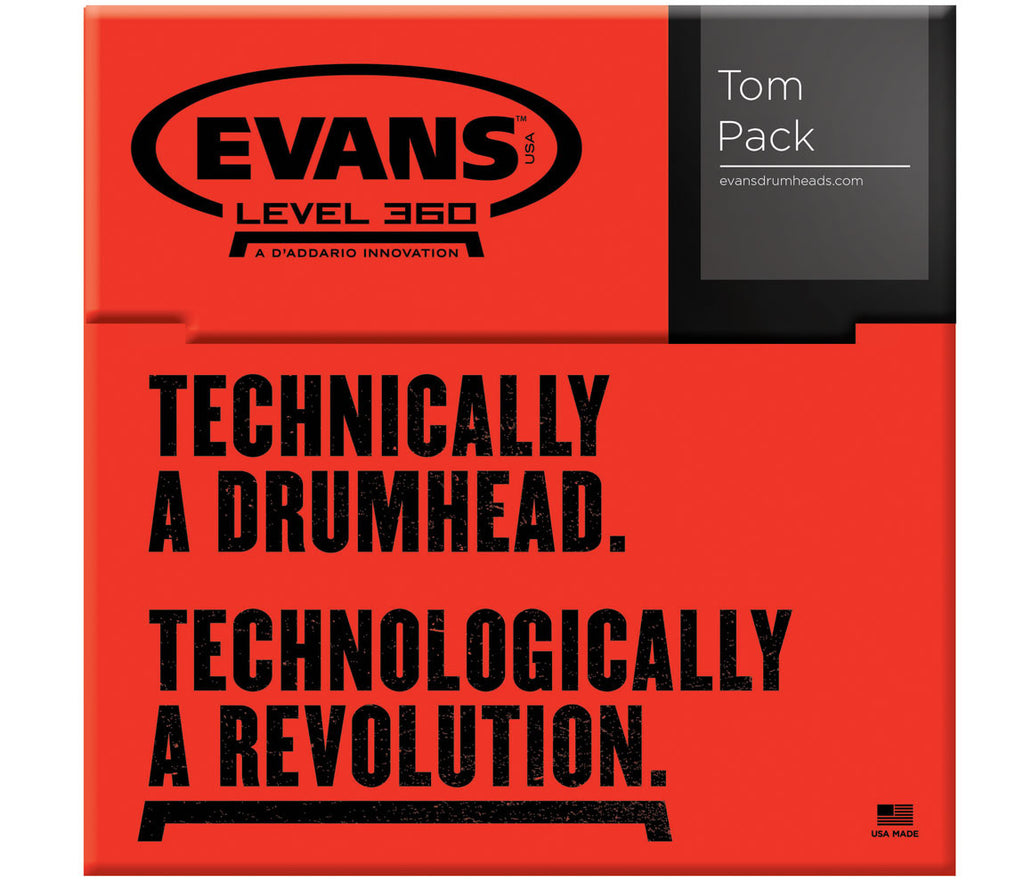 "Evans G Plus Tompack Coated White, Standard (12"",  13"",  16"")"