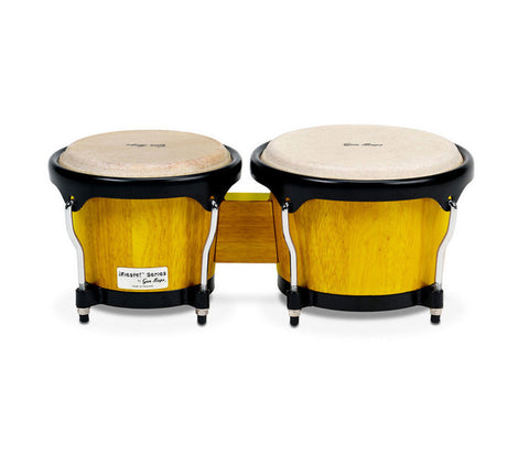 "Gon Bops Fiesta Series Bongos 7"" & 8.5"" - Yellow w/ Black Hardware"