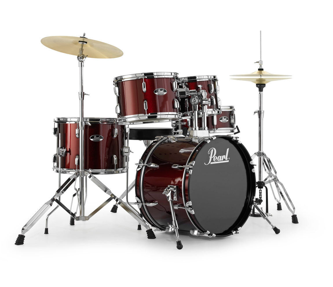 Pearl drum kit, red pearl, drummers choice,