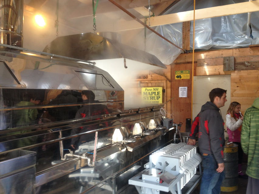 Ben's Sugar Shack in Temple, NH  Boiling Maple Syrup since Jan. 10