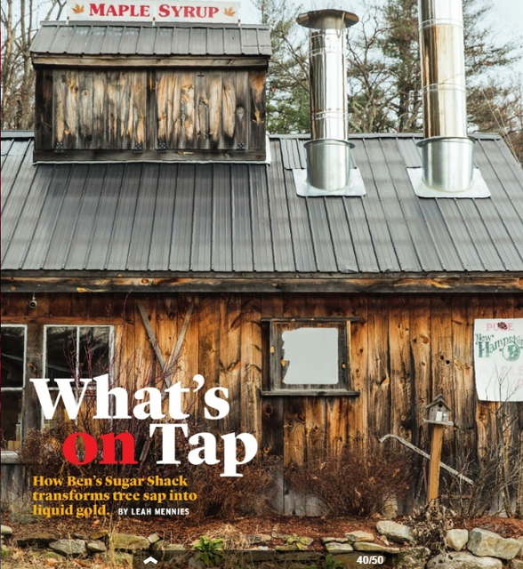 Hannaford Fresh Magazine from Hannaford Supermarket Features Ben's Sugar Shack!