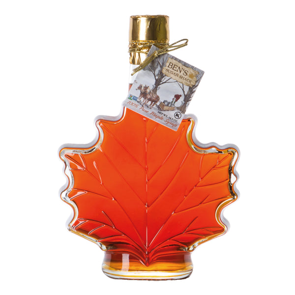 Pure Maple Syrup in 16.9 oz. Glass Leaf