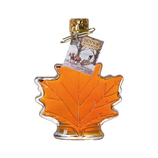 Pure Maple Syrup in 8.45 oz. Glass Leaf