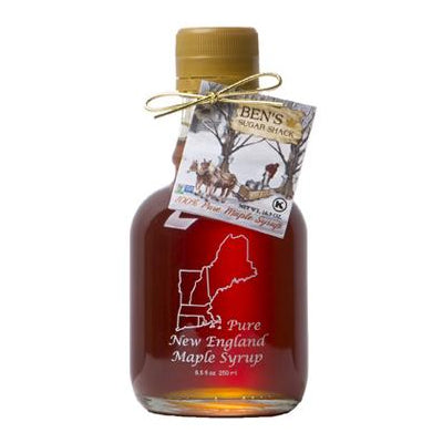 Pure Maple Syrup in 8.45 oz. New England Glass Jug