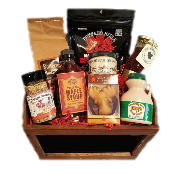 For the guys Maple gift basket