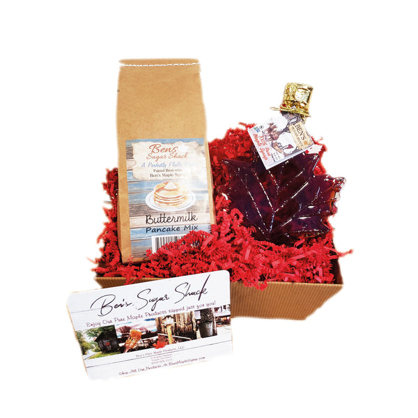 Maple Leaf & Pancakes Gift Basket