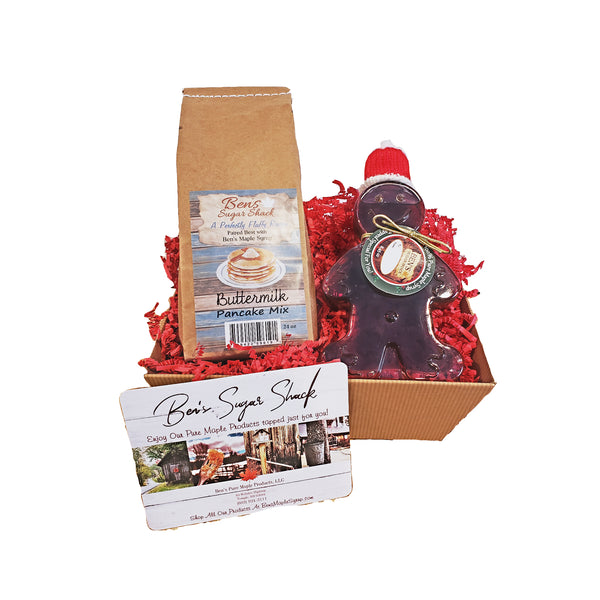 Gingerbread Man & Pancake Gift basket (Corporate favor)