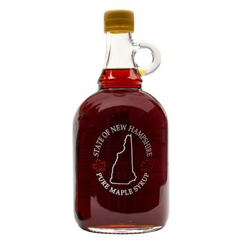 Pure Maple Syrup in 33.8 oz. New Hampshire Glass Jug